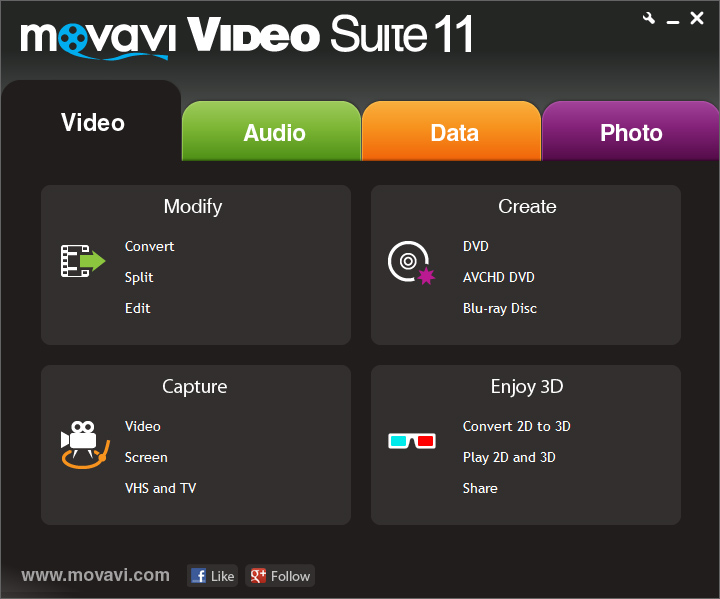 Movavi Video Suite Screen shot