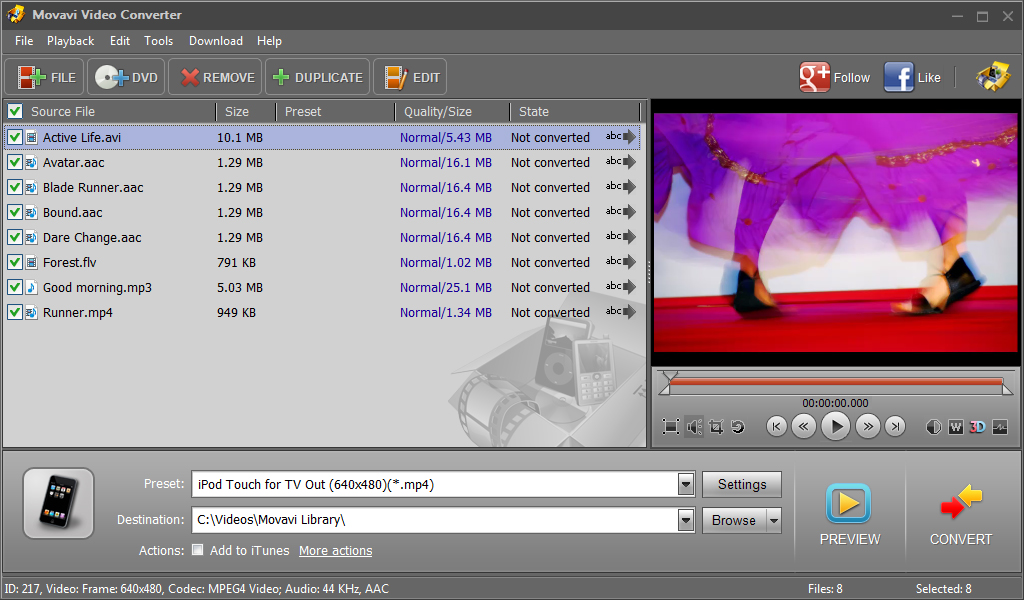 Movavi Video Converter screenshot