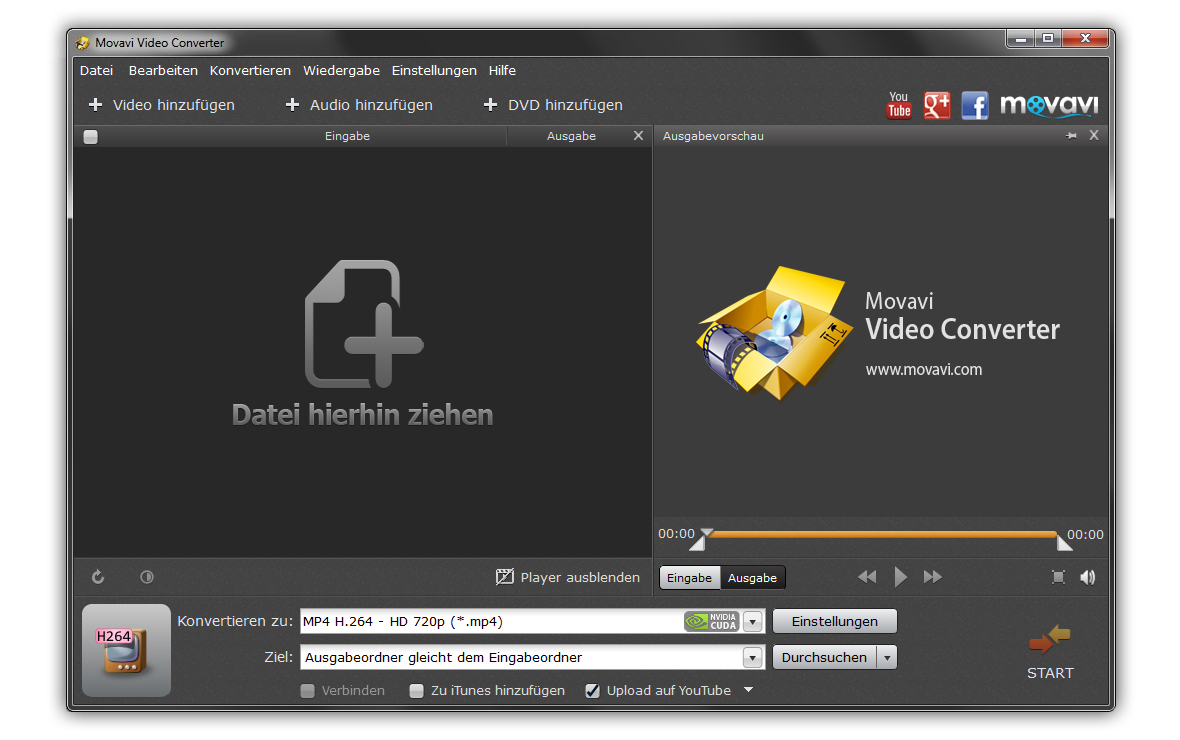 Click to view Movavi Video Converter DE screenshots