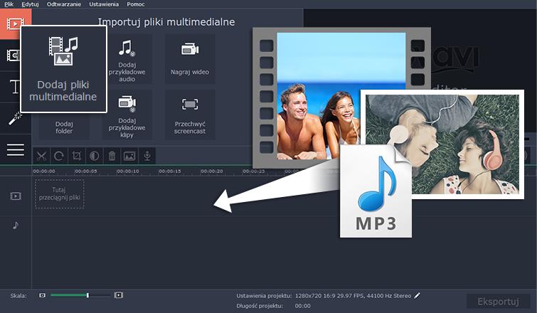 Dodaj pliki multimedialne do programu