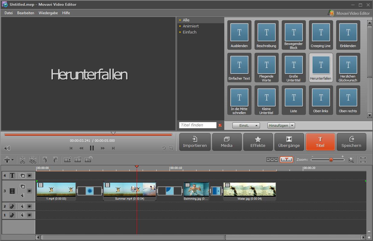 VIDEO BEARBEITUNGS PROGRAMM KOSTENLOSEN