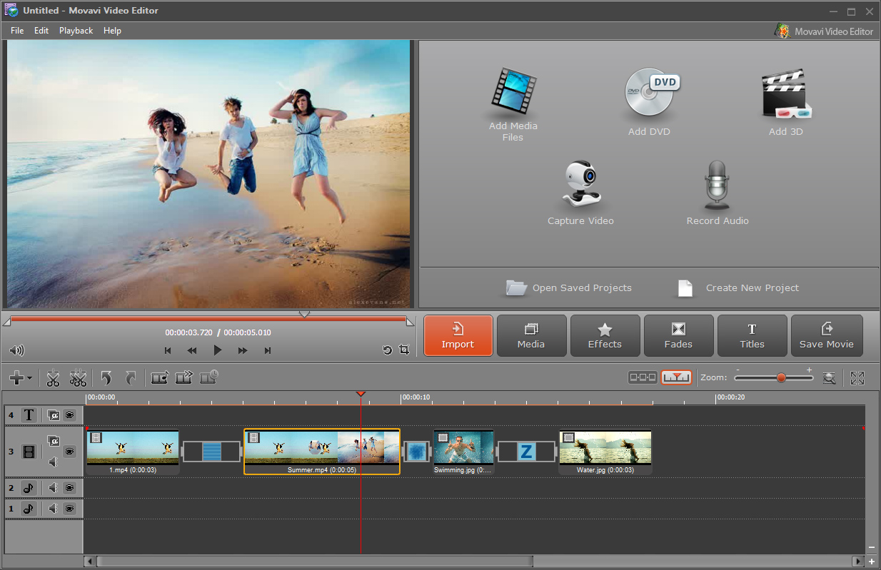 Movavi Video Editor Screen shot