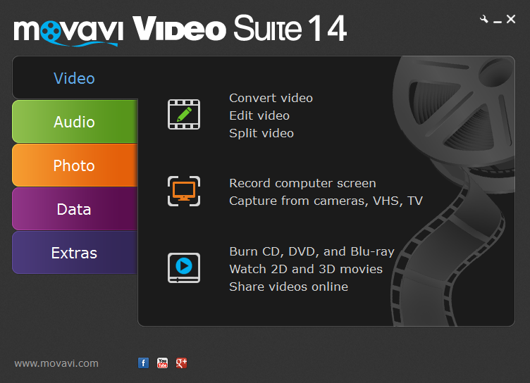 The ultimate collection of Movavi software.