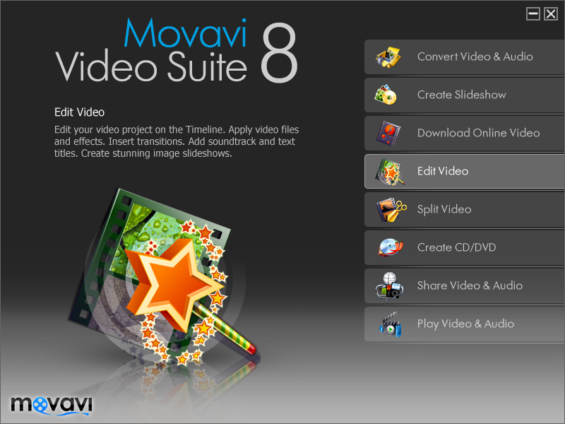 Movavi Video Suite 8.1.1 | 180 MB