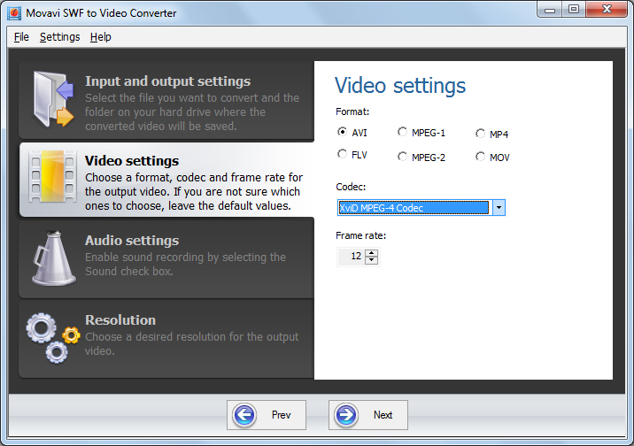 Click to view Movavi SWF to Video Converter screenshots