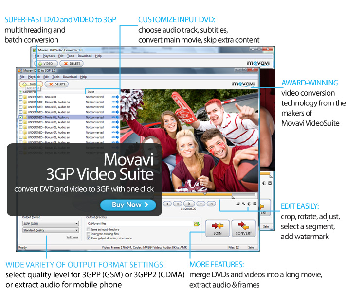 Movavi 3GP Video Suite Screen shot