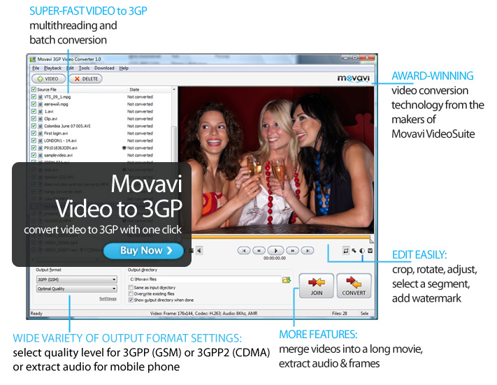 Movavi 3GP Video Converter Screen shot