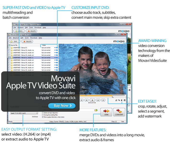Click to view Movavi Apple TV Video Suite screenshots