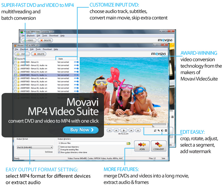 Click to view Movavi MP4 Video Suite screenshots