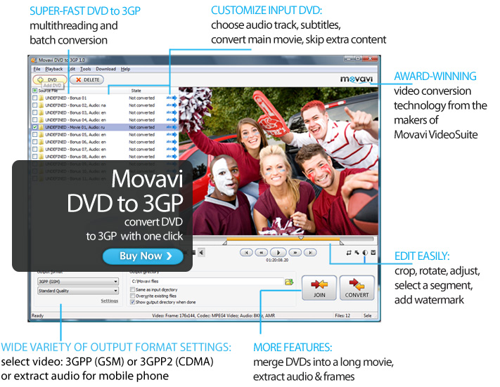 Click to view Movavi DVD to 3GP screenshots