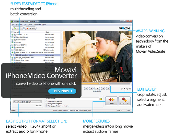 Click to view Movavi iPhone Video Converter screenshots