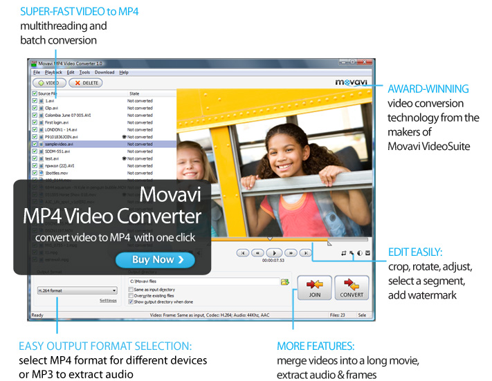 Click to view Movavi MP4 Video Converter screenshots