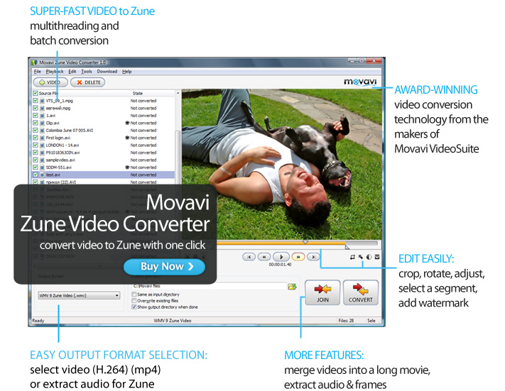 Click to view Movavi Zune Video Converter screenshots