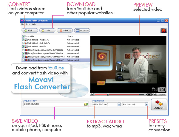 Movavi Flash Converter Screen shot