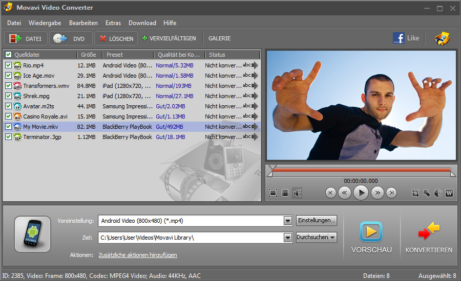 Movavi Video Converter Screen shot