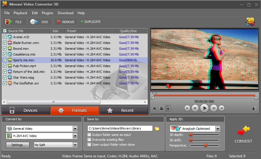 Click to view Movavi Video Converter 3D screenshots