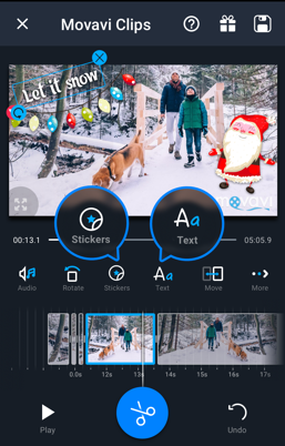 Android video editor clipgo movie maker for android movavi clips is a free video editing app for android that enables you to create stunning movies on your mobile device just shoot footage add it to the ccuart Choice Image