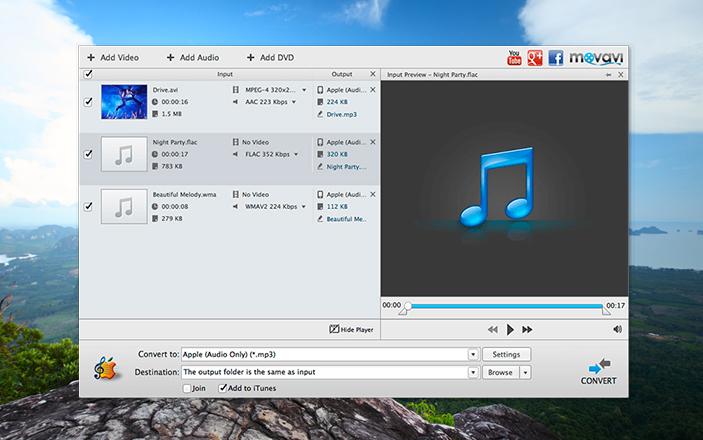 Movavi Audio Converter for Mac   Music Converter for Mac
