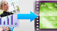 Video software from movavi to convert PPT files to video formats