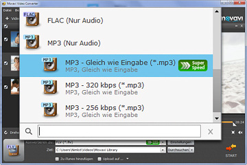 FLV in MP3 Audiokonverter