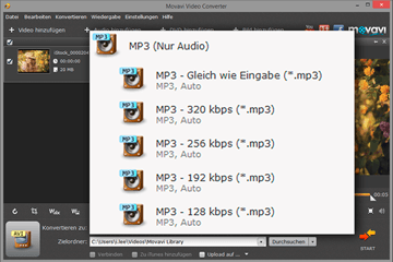 MPEG zu MP3 Converter