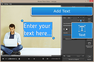 Step 2 - Add text to your picture with Movavi