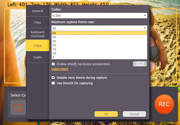 Step 2.2 - Set the correct frame rate on the HD video capturing software