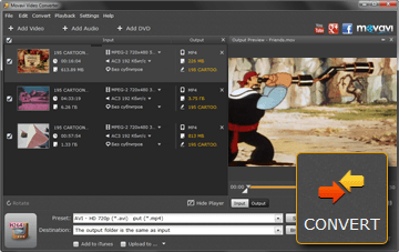 SStep 4 - Convert MP4 to DVD in Movavi Converter