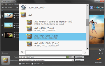 Step 3 - Choose the Format You Need before Converting MP4 to AVI