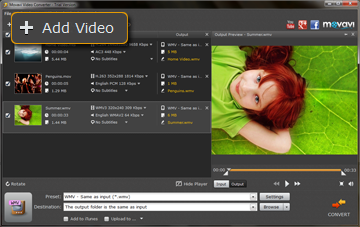 Step 2 - Load Videos to Movavi AVI to WMV Converter