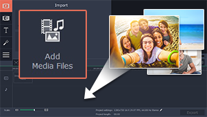Step 1: add media files you want to see in your slideshow