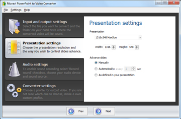 Step 3 - Specify the Presentation Settings