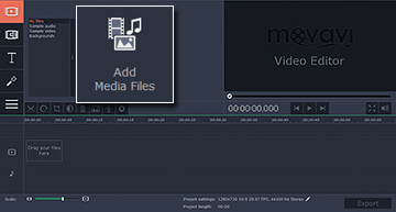Step 2 - Add files to Movavi Vine maker