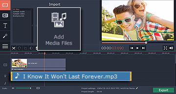 Step 4.1 - Add music files in Vine video editor