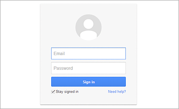 Sign in or Register on Gmail