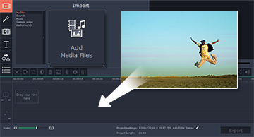 Step 2: How to add your movie to Movavi Video Editor