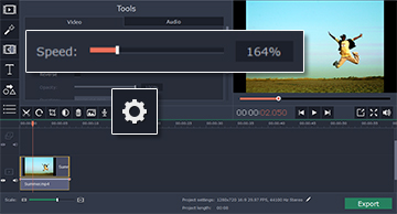 Step 3: How to fast forward a video  on Movavi Video Editor