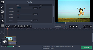 Step 4.1: How to edit the audio track of your video