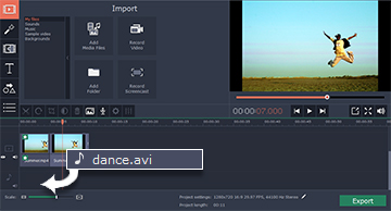 Step 4.2: How to keep the original soundtrack speed in Movavi Video Editor