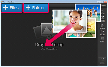 Add Files to Photo Editor
