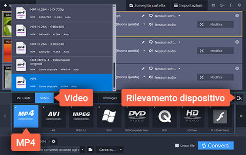 Convertite video in MP4 con due clic