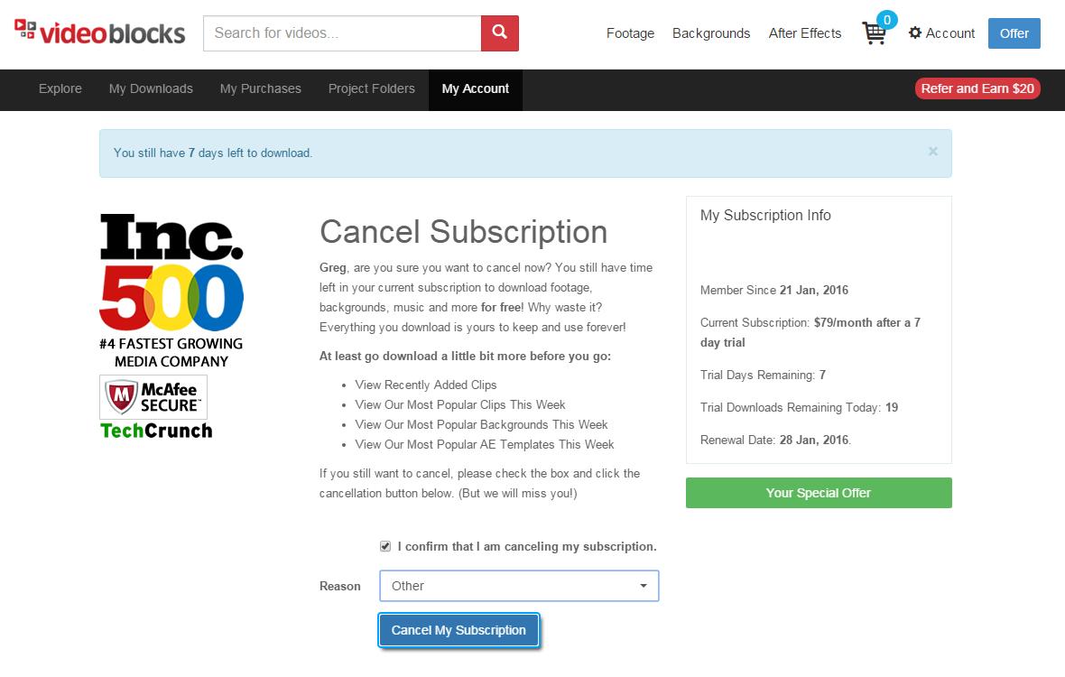 How do i cancel my subscription to eharmony