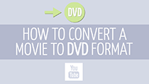 How to convert movies to the DVD format