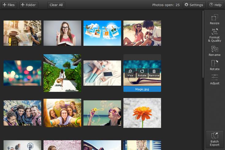 Movavi Photo Batch برنامج تكبير وتصغير حجم الصور