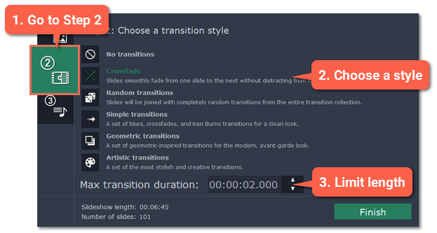 Step 2: Add transitions