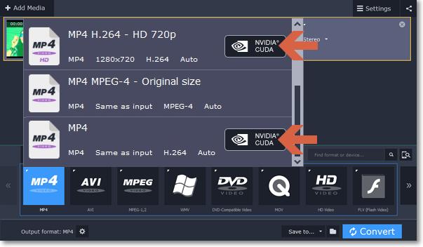 NVIDIA Hardware acceleration