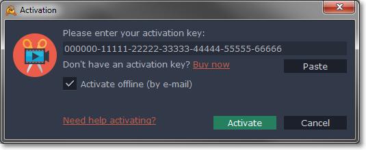 activation key of movavi video editor