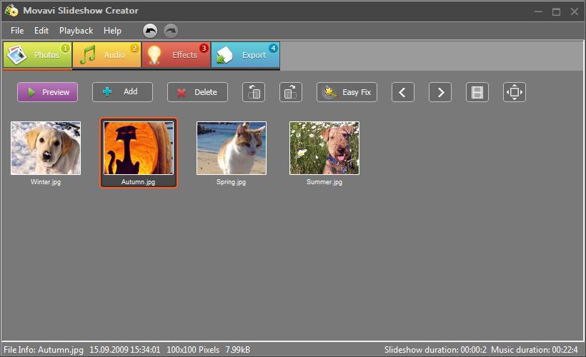 slideshow video di foto